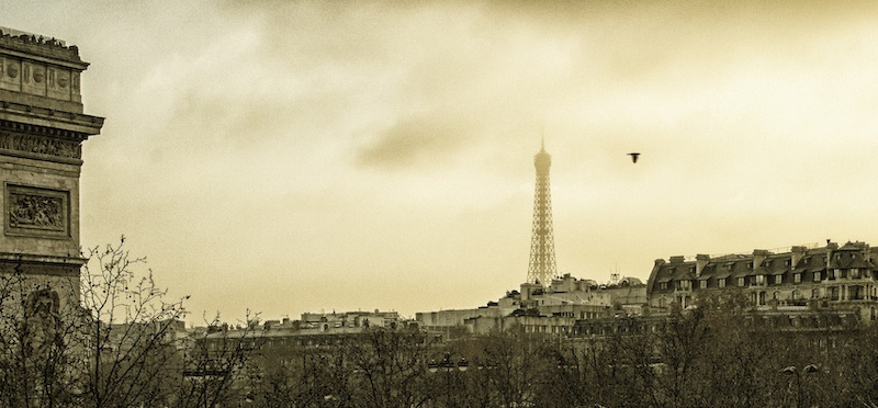 What a Bird Saw, Eiffel Tower and Arc de Triomphe, 2007