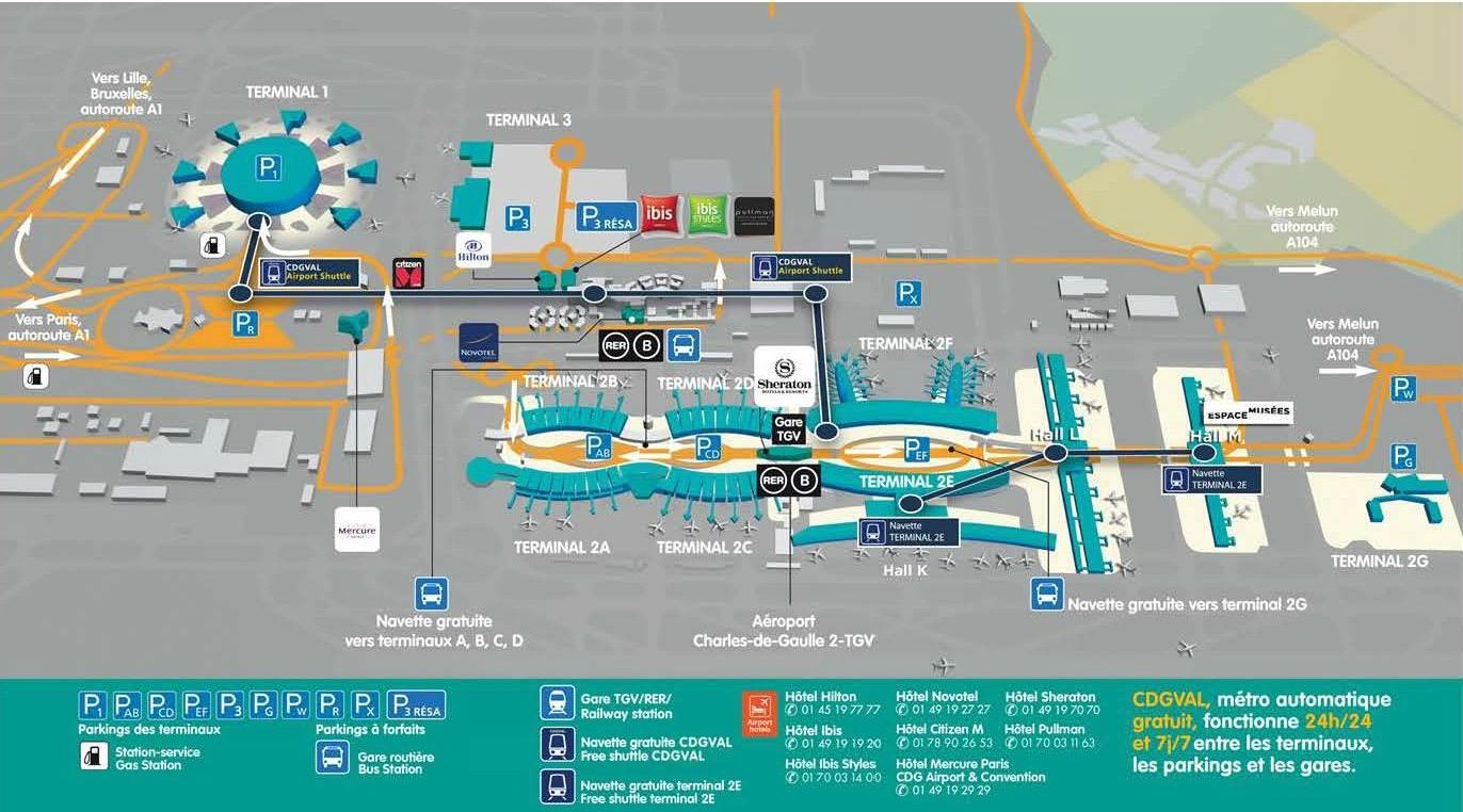 cdg map terminal 2e Paris Airports Charles De Gaulle Paris Insiders Guide cdg map terminal 2e