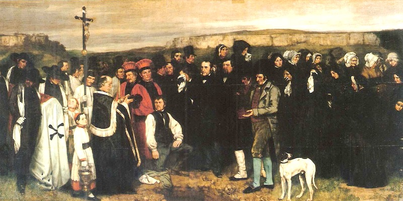 Courbet, A Burial at Ornans