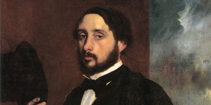 Degas Self Portrait, detail