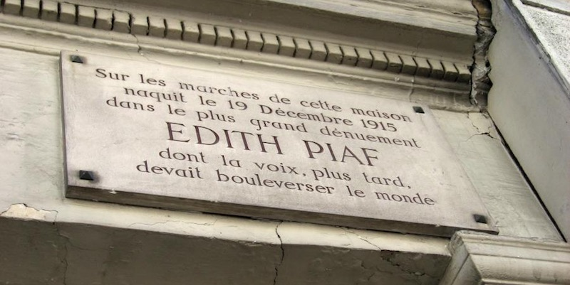 Edith Piaf plaque