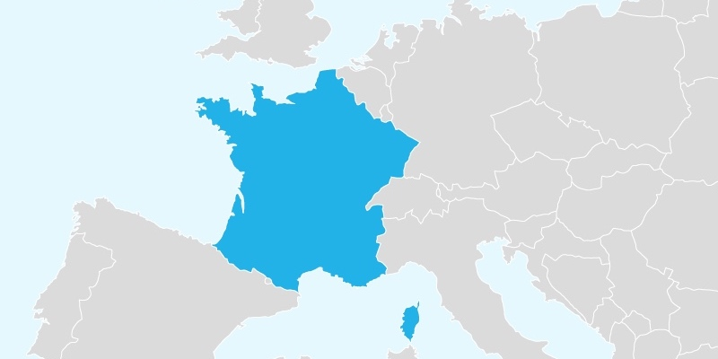 Map Of France With Paris Highlighted.Train Travel In France Paris Insiders Guide