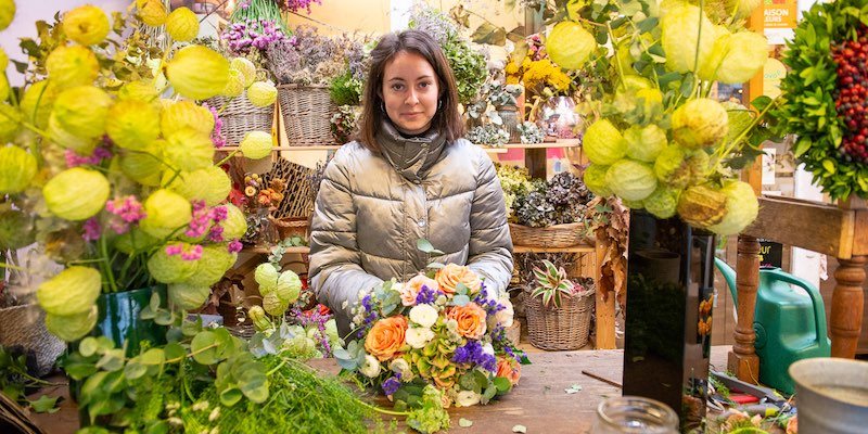 Flower seller on Place de la Madeleine