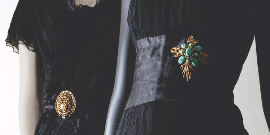 Chanel dresses on exhibition