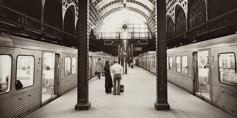 RER trains at Gare d'Orsay, c. 1970