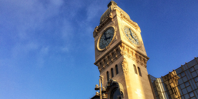 Gare de Lyon clock tower, photo by Mark Craft