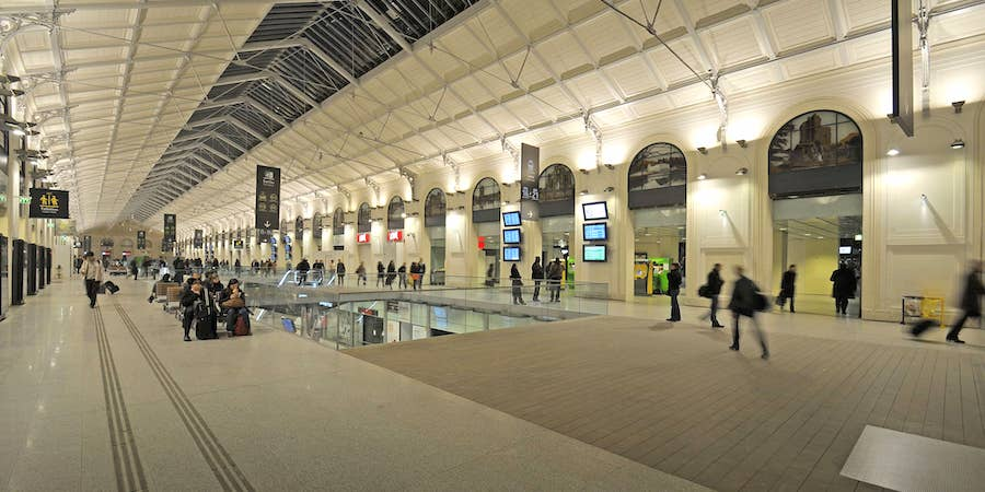 Shopping levels at Gare Saint-Lazare