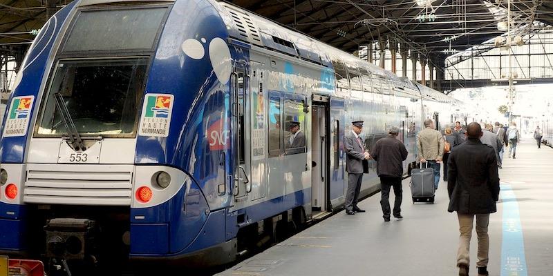 Gare Saint-Lazare Normandy train