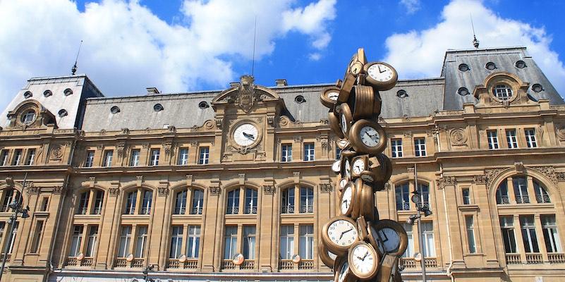 The clocks at Gare Saint-Lazare