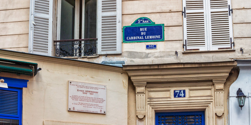 Hemingways Rue Du Cardinal Lemoine Apartment, photo by Mark Craft