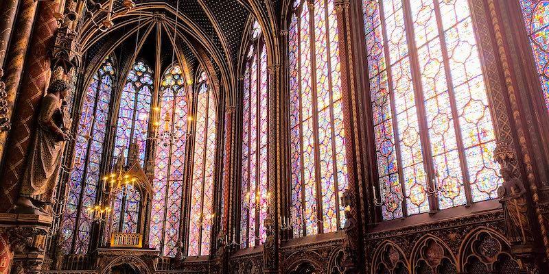 La Sainte Chapelle, Wikimedia Commons, photo by GruntXIII