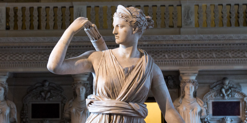 Artemis at the Louvre, photo by Mark Craft