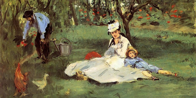 The Monet Family In Their Garden At Argenteuil, Manet