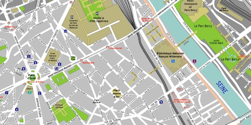 3th Arrondissement map