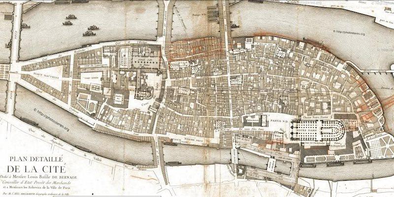 Ile de la Cite in 1754