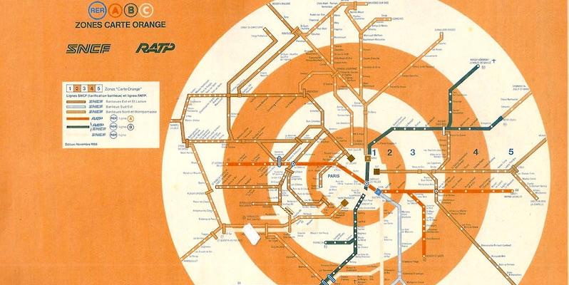 Map of Carte Orange zones