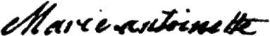 Marie Antoinette's signature
