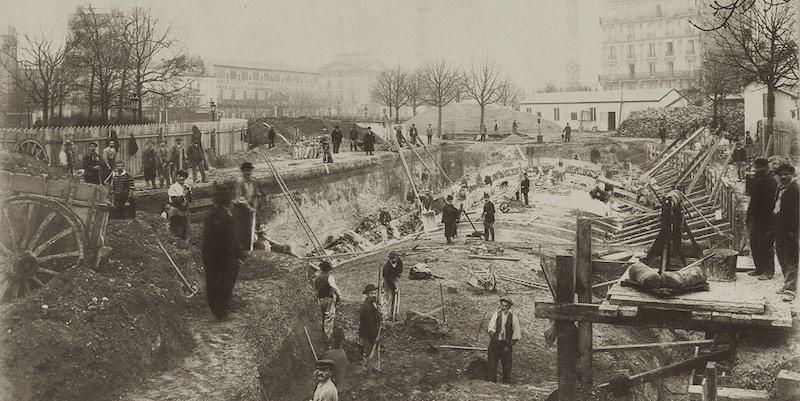 Metro construction, 1898