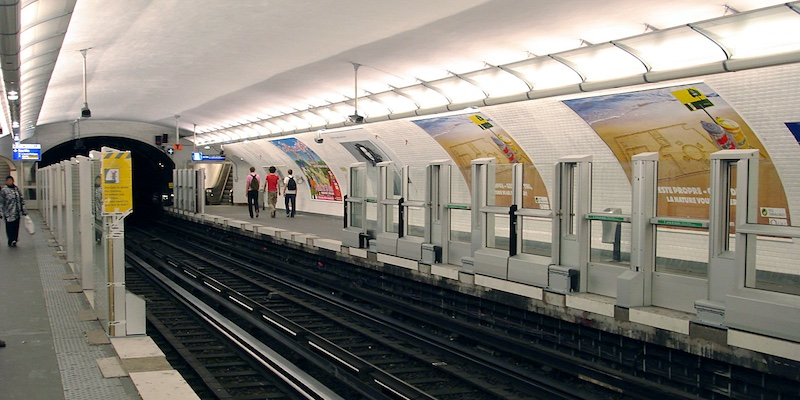 Automated doors on Line 1, during installation