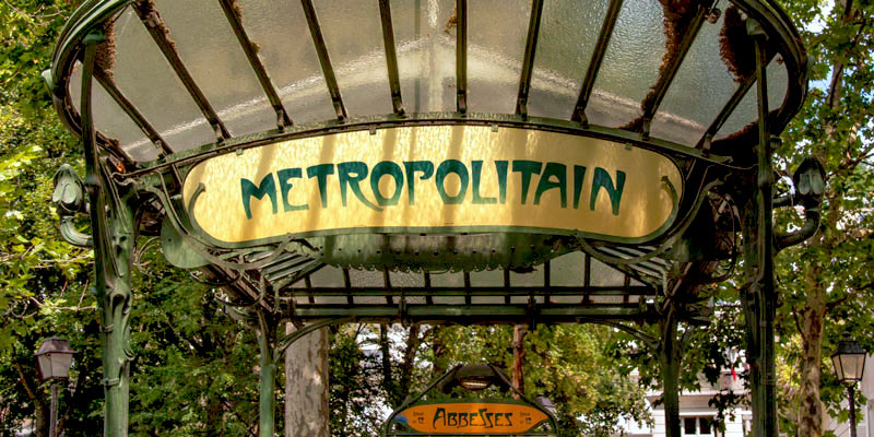 Metro Entrance by Hector Guimard