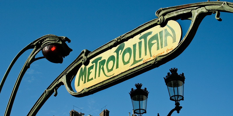 Guimards Art Nouveau Metro Entrances