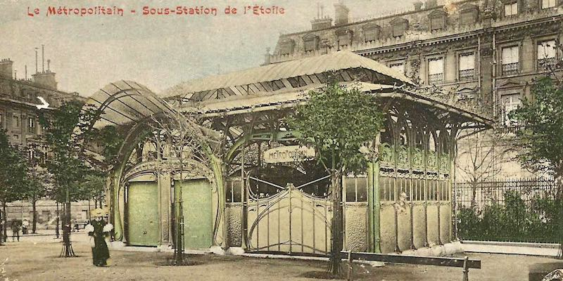 Former Guimard Metro Entrance at Etoile