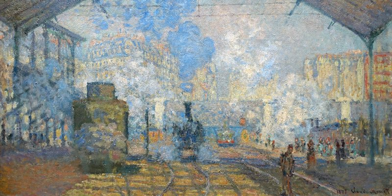 Gare Saint-Lazare by Monet, at Orsay
