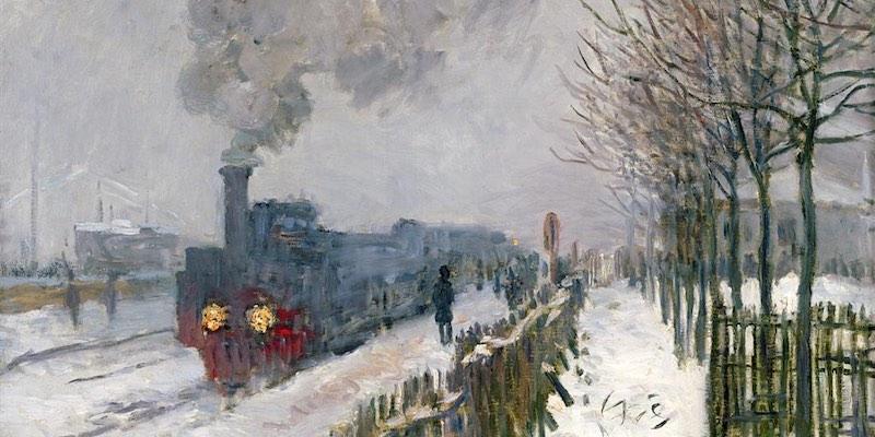 Monet, Le Train dans le Neige
