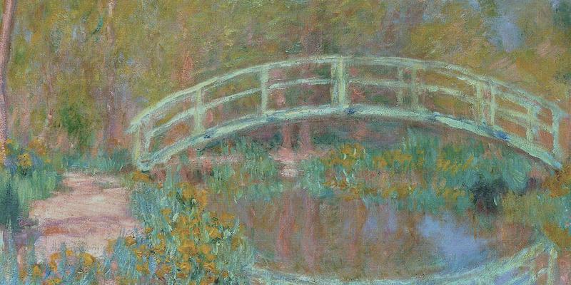 Japanese Bridge (detail), Claude Monet, 1900