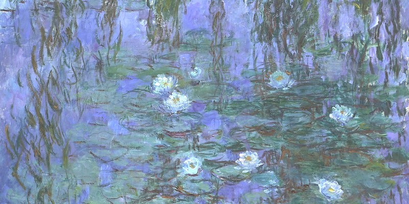 Nympheas bleus, by Claude Monet