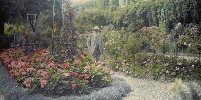 Monet in his garden