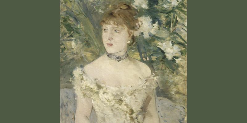 Morisot, Jeune femme en Toilette de Bal