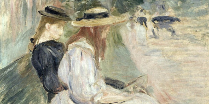 Morisot, Sur un Banc a Bois de Boulogne