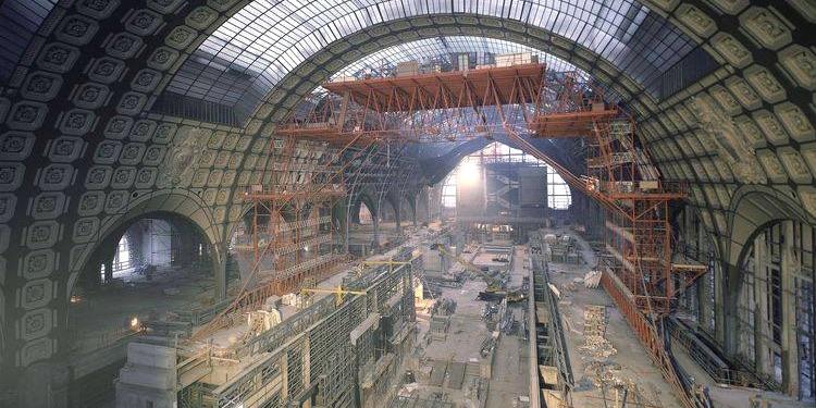Musée d'Orsay construction, 1984