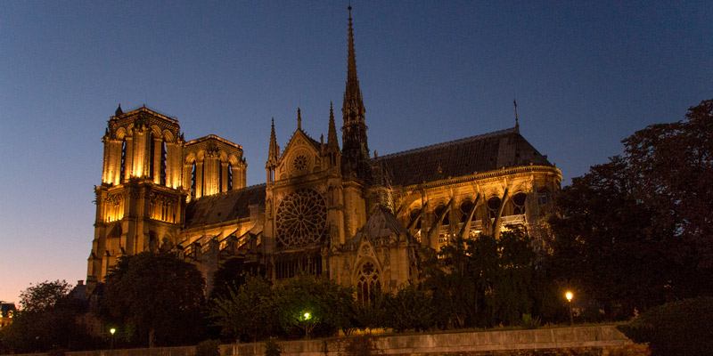 Notre Dame from the Seine, photo by Mark Craft