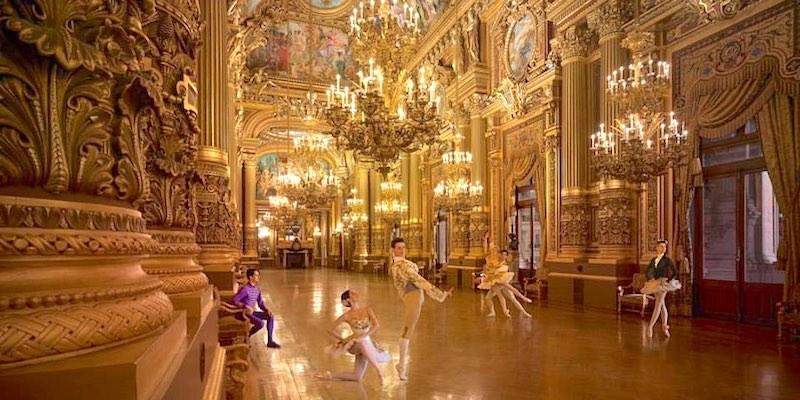 The grand ballroom at Palais Garnier