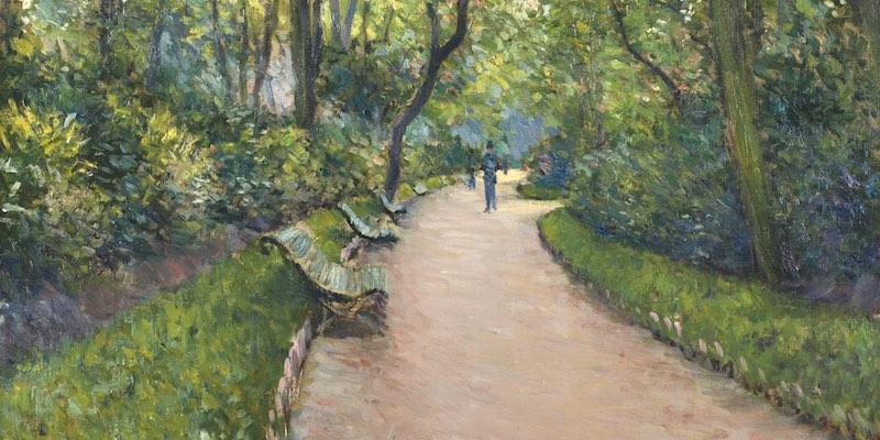 Parc Monceau by Caillebotte