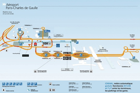 Map of CDG