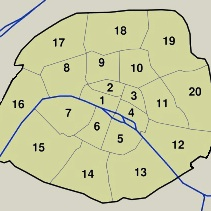 Link to Paris Arrondissements