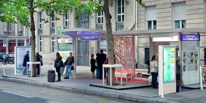 Paris Bus Stop