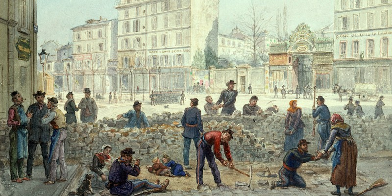 Barricades at Place Blanche