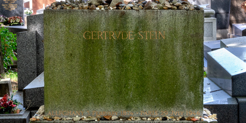 Grave of Gertrude Stein, photo by Mark Craft