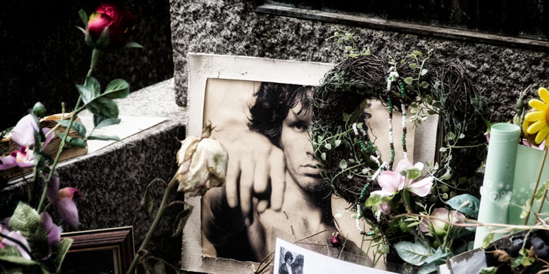 Grave of Jim Morrison, photo by Mark Craft