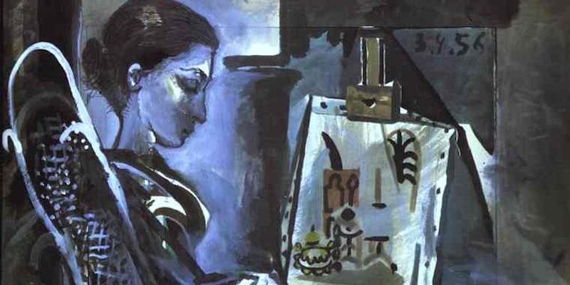Jacqueline in studio 1956