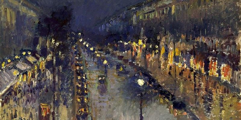 Pissarro, Boulevard Montmartre Night, 1897