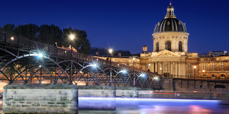 Pont des Arts with the Institut de France on the far bank