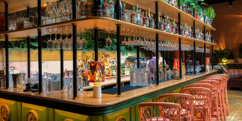 Bar at La Gare, photo by Mark Craft
