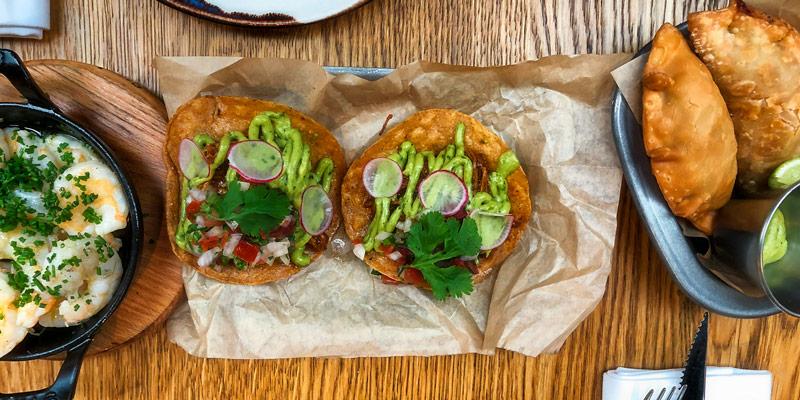 Lamb Tacos at La Gare, photo by Mark Craft
