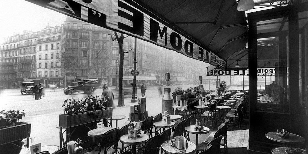 Boulevard Montparnasse from Le Dome in 1926