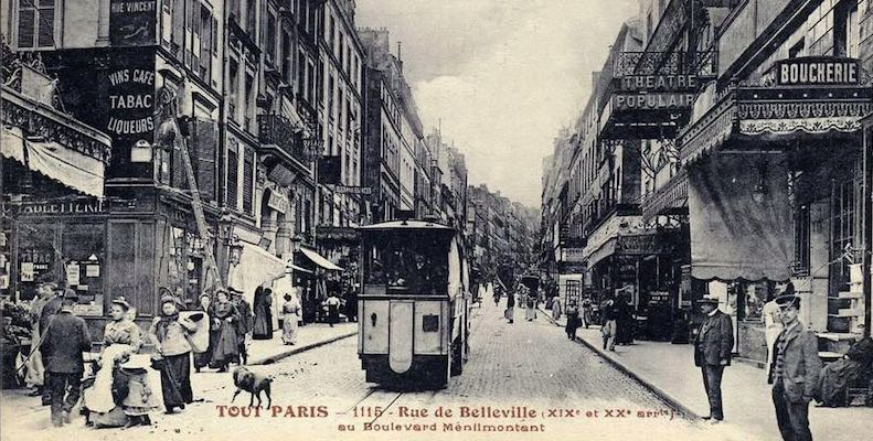 Rue de Belleville, early 20th century
